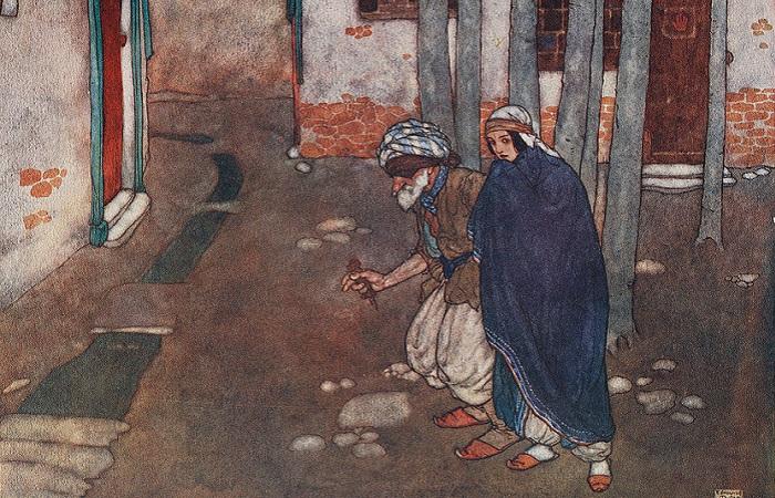 Для арабской культуры характерна любовь к поэзии. Иллюстрация Эдмунда Дюлака.