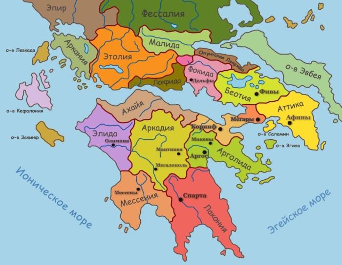 Вспоминаем, где Коринф, Спарта и Афины. |Фото: kob-alt.ru.