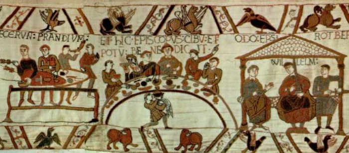 Фрагмент гобелена из Байё (Bayeux).